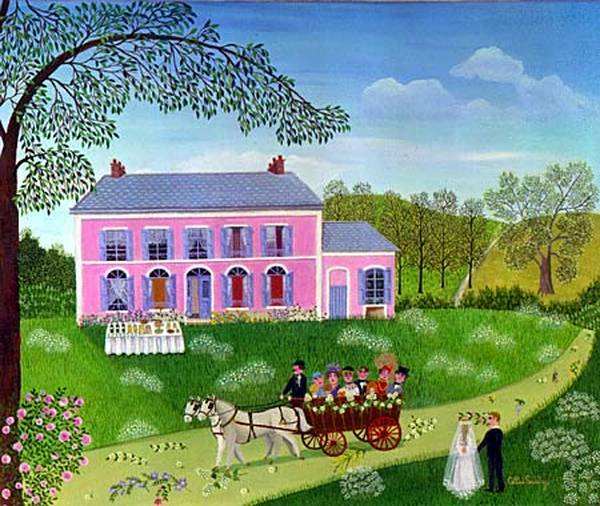 Paintings by French Naive Artist Cellia Saubry
