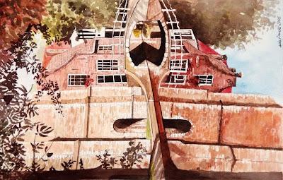 Watercolor Painting by Polish Artist Ada Florek