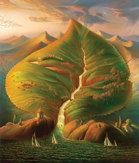 Oil Painting by Vladimir Kush Surrealist Artist