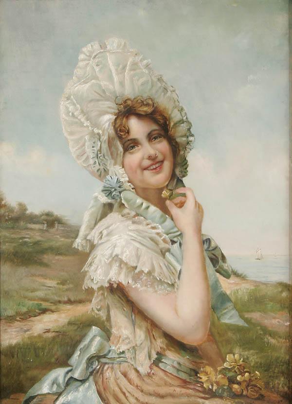 Unknown Artists. American School, Buttercup Girl, circa 1890