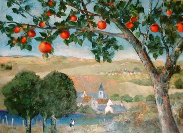 Maurille Prevost. French painter, french artist of 20th century, An Apple Tree