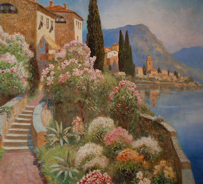 Alois Arnegger. Flowering Villa At Lago Di Lugano