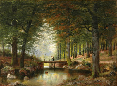 Alois Arnegger' painting. In Vienna Woods