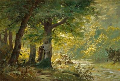 Alois Arnegger. Sunlit Stream