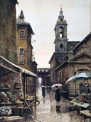 Ettore Roesler Franz. Vicolo del Campanile in Rome