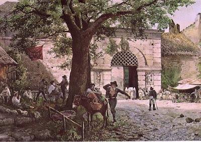 Ettore Roesler Franz. Porta Angelica in Rome