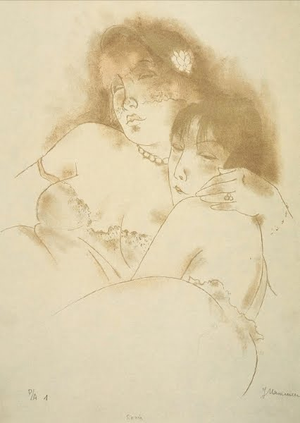 Jeanne Mammen, German artist,Weimar era artist, graphics, Siesta