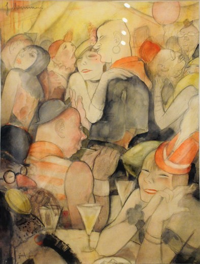Jeanne Mammen, German artist,Weimar era artist, graphics, The Kaschemme Bar, c 1925