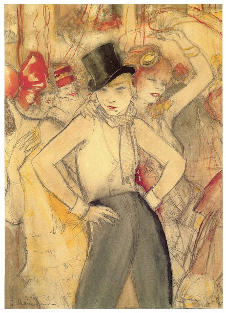 Jeanne Mammen, German artist,Weimar era artist, graphics, She Represents, c 1924