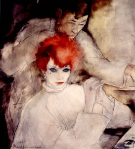 Jeanne Mammen, German artist,Weimar era artist, graphics,  The Redhead