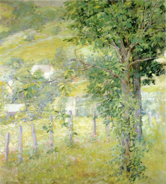 Robert Reid. Hillside in Summer,Summer Day in the Countryside. Summer Themed Oil Paintings
