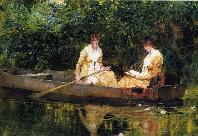 Francis Coates Jones,Summer Day in the Countryside. Summer Themed Oil Paintings