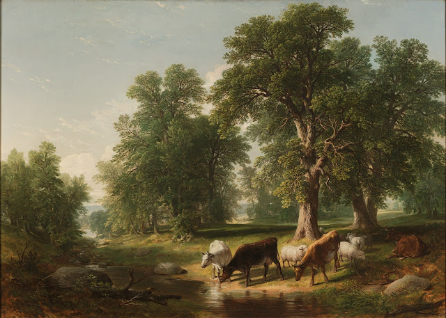 Asher B. Durand. A Summer Afternoon, 1849, Summer Themed Oil Paintings