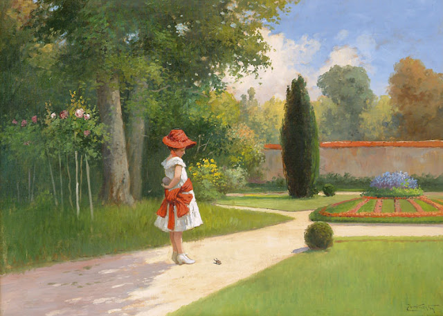 canvas painting,summer landscape,oil painting,landscape oil painting,painting of women,garden painting