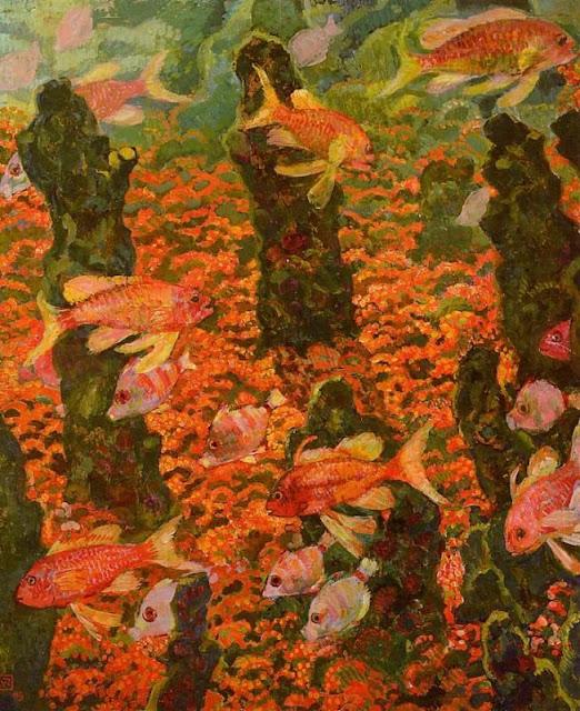 Theo van Rysselbergue, Goldfish in Painting