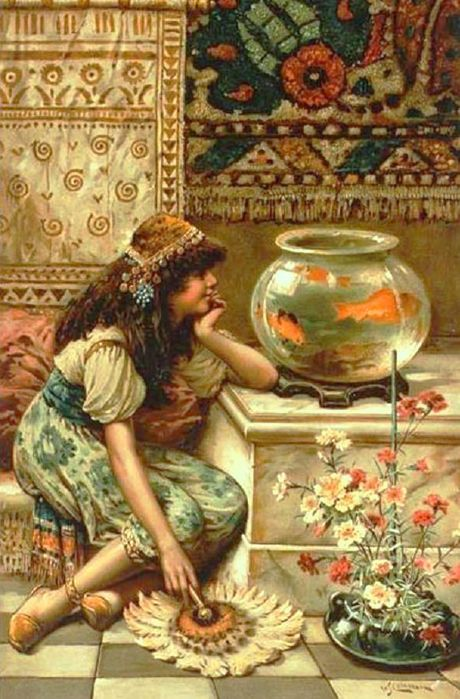 William Stephen Coleman paintings, Goldfish in Painting
