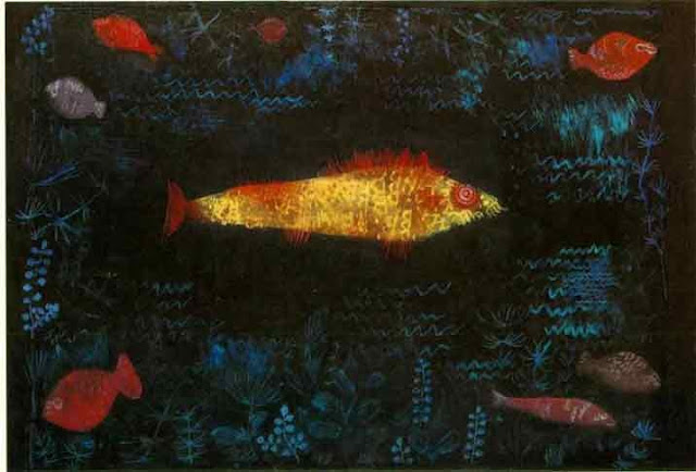 Paul Klee. Golden Fish, Goldfish in Painting