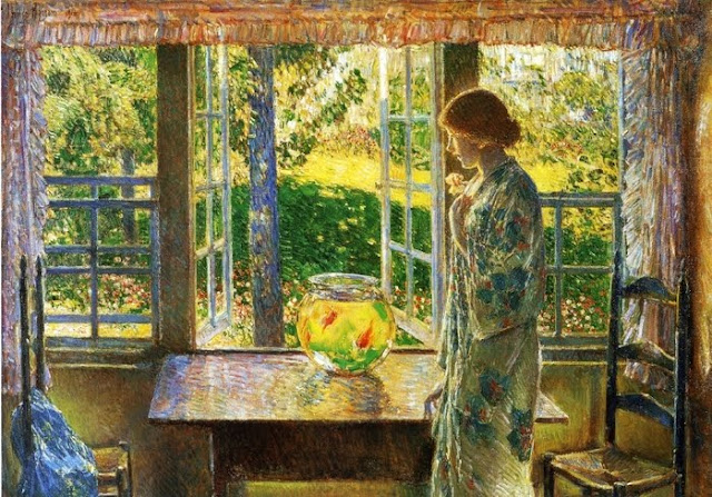 Childe Hassam Painting,Goldfish in Painting