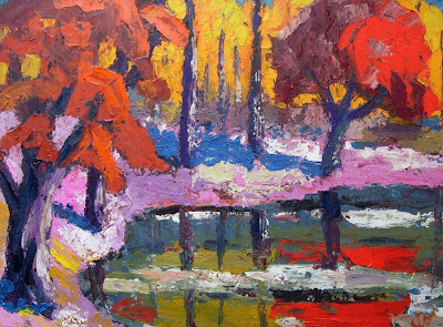 Autumn Painting by Hungarian Artists. Endre Bartos