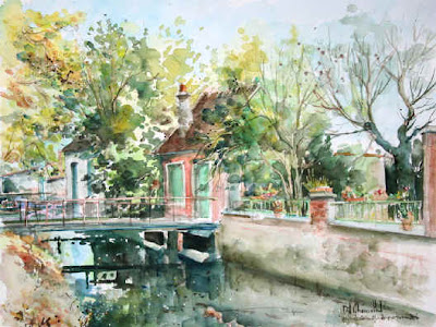 Watercolors by Daniel Chamaillard