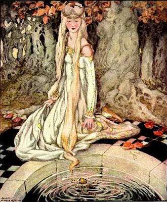 Elenore Abbott's Illustration for The Frog Prince