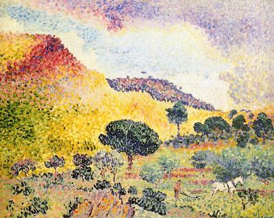 Henri Edmond Cross. La Chaine des Maures, 1907