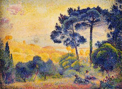 Henri Edmond Cross. Provence Landscape, 1898