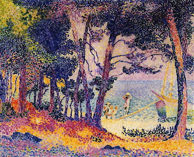 Henri Edmond Cross. A Pine Wood, Provence, 1906