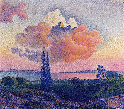 Henri Edmond Cross. The Pink Cloud, 1896