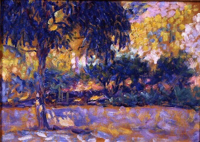 Henri Edmond Cross. Landscape with Eucalyptus and a River
