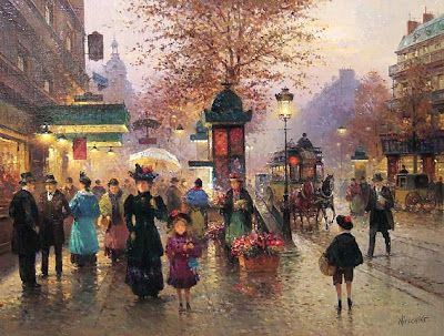 Detlev Nitschke. Paris. Evening Stroll
