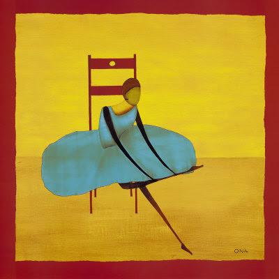 Thierry Ona. Seated Ballerina