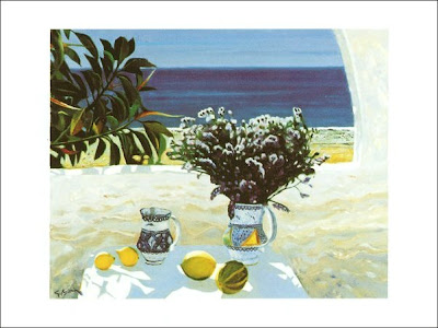 Oil Painting by French Artist Georges Blouin. Mojacar, Andalusia