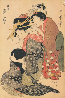 Kitagawa Utamaro. Ukiyo-e. Two Women