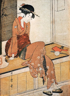 Kitagawa Utamaro. Ukiyo-e. Girl Seated