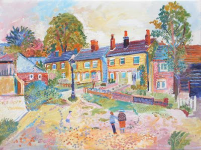 Fred Yates. A Village Square