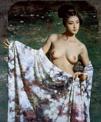 Oil Painting by Chinese Artist Xie Chuyu