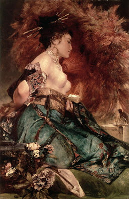 Japonisme. Paintings of Beautiful Women. Hans Makart. Japanese Girl