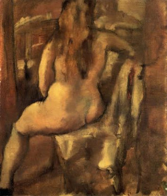 Jules Pascin. Seated Nude Woman, 1923