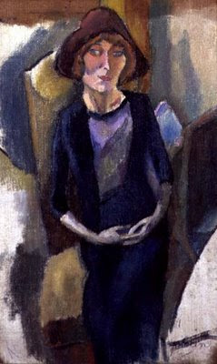Jules Pascin. Hermine David in Blue