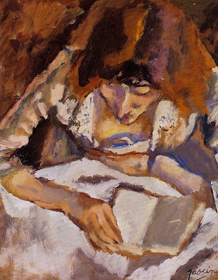 Jules Pascin. Hermine Reading