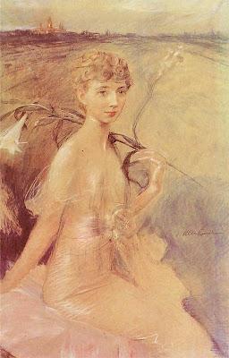 Portrait of Zofia Jachimecka, 1913 by Teodor Axentowicz