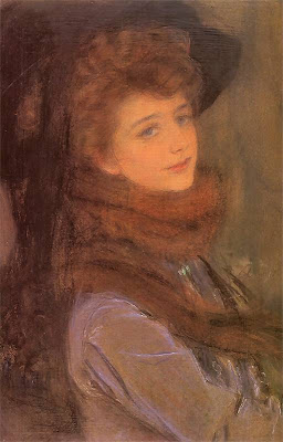 Woman in a Fur Coat by Teodor Axentowicz