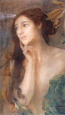 Teodor Axentowicz. Portrait of a Woman, 1907