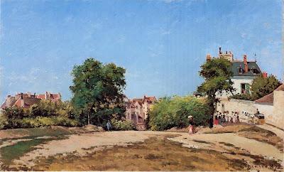 Camille Pisarro. The Crossroads, Pontoise, 1872