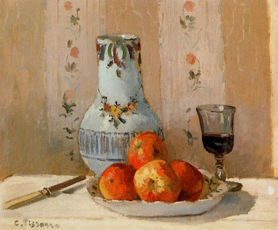 Camille Pisarro. Still Life with Apples and Pitcher, 1872
