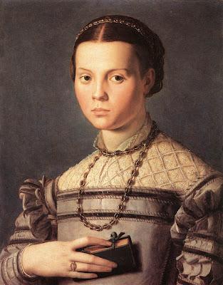 Portraits of  Women of Italian Renaissance. Agnolo Bronzino