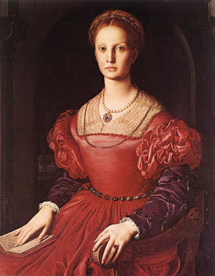 Portraits of  Women of Italian Renaissance. Agnolo Bronzino Lucrezia Panciatichi