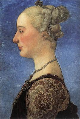 Portraits of  Women of Italian Renaissance. Antonio del Pollaiuolo