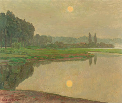 Leon De Smet. View of the River Leie